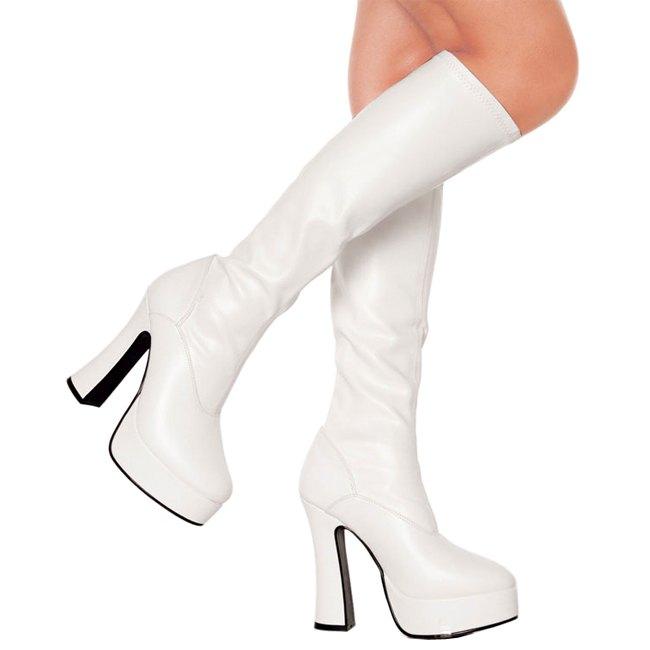 pleaser ELECTRA-2000 witte plateau laarzen dames maat 39 - 40