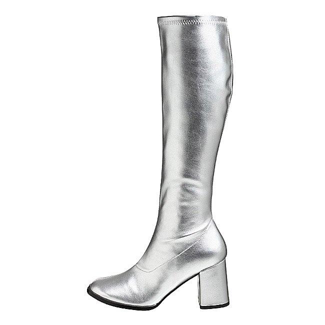 pleaser GOGO-300 zilveren dames laarzen met blokhak maat 36 - 37