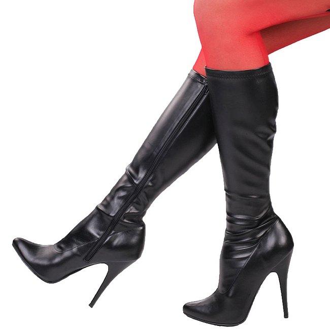 Bottes Pleaser / Bottes Pour Femmes - Noir, Taille 40