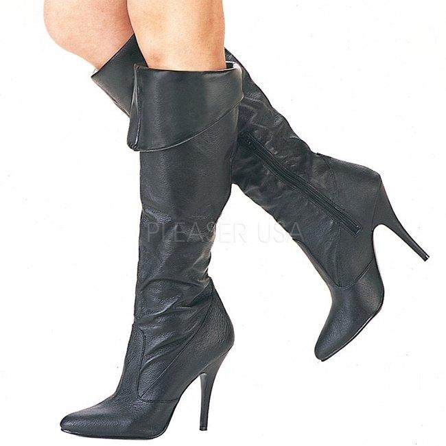 pleaser VANITY-2013 leer dames laarzen met naaldhak maat 39 - 40